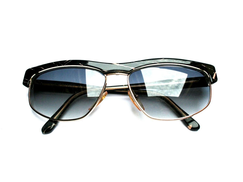 Sonnenbrille JEAN PATOU Vintage Damen schwarz und Gold