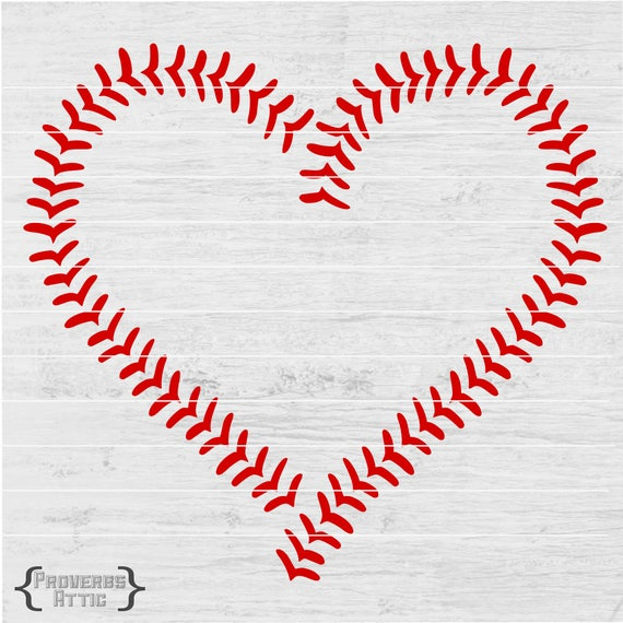 Baseball Heart Stitches Sports File For T Shirt Iron On