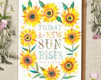 Sun Rises - Greeting Card