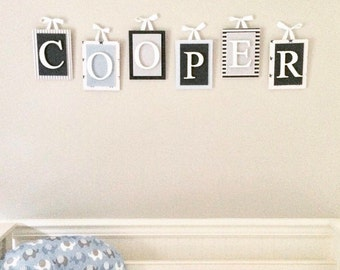 Wooden Nursery Letters, Wooden Letters for Nursery, Nursery Decor, Letters for Nursery, Nursery Wall Decor, Baby Name Sign,  Wall Letters