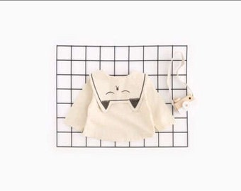 TAM Kids Baby Girl Cat Blouse linen style infant toddler Children top Spring Collection