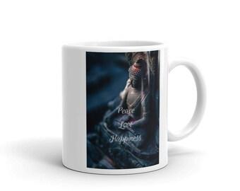 Peace, Love, Happiness - Ceramic Mug
