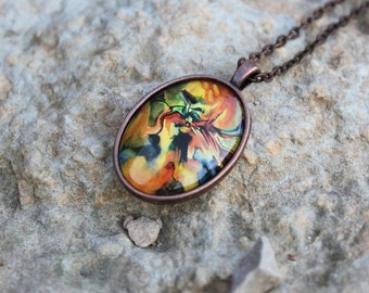 If You Found Me Art Pendant - Wearable Art