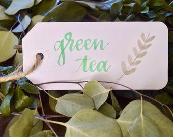 Custom Watercolor Gift Tag/Drink Tag