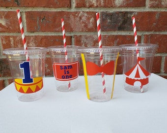 Circus carnival birthday theme 16oz plastic cups
