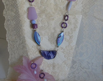 Shades of Purples & Blues Necklace Set
