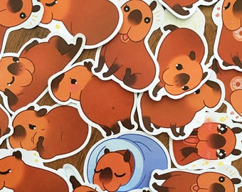 Cappie The Capybara Sticker Set
