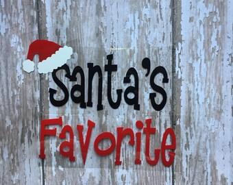 Santa's Favorite Iron on Decal/ DIY Santa's Favorite Shirt/ DIY Santa's Favorite Bodysuit/ DIY Santa Tee/ D.I.Y Santa Boy T Shirt