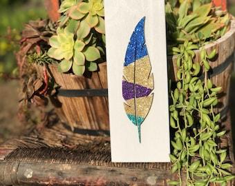 Feather Art/Feather/Glitter/Glitter Feather/wall Decor/Lasercut