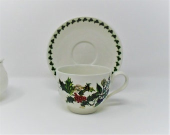 Portmeirion Holly & the Ivy Cup and Saucer