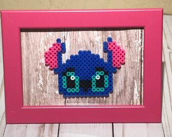 Stitch sprite art framed