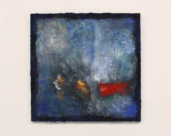 blue painting, abstract painting, contemporary art,  textured painting, original painting, abstract art, wall decor,