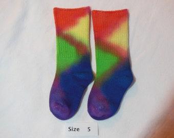 children socks, socks, bamboo socks, size 5 for children shoe size 5, OOAK