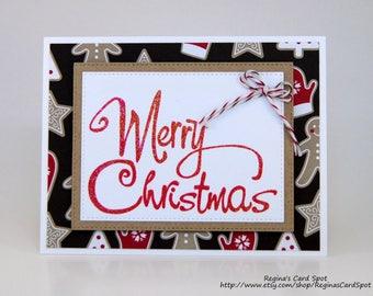Gingerbread Man Christmas Greeting Card