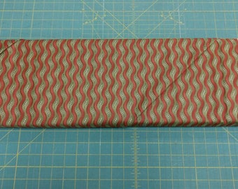 Louisa fabric. Red green wavy waves lines quilters cotton quilting Louise Moda 1174