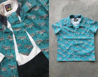 NEW blue zebra shirt