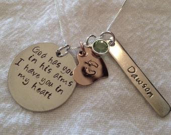 Memorial Mother's Necklace, personalized, in memory of, lost babies