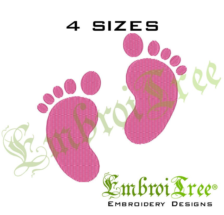 Baby feet embroidery design machine embroidery baby for Embroidery office design version 9