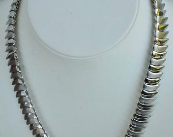 Necklace chain silver-plated vintage from 1980's