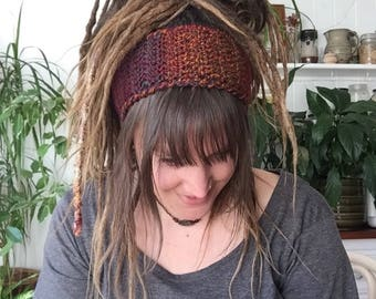 Crochet Dreadband, Chunky Headband, Dread Wrap, Ear Warmer