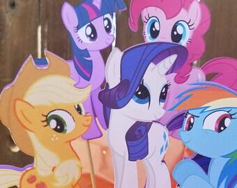 My little pony centerpiece, pony birthday,  pony decorations, my little pony party