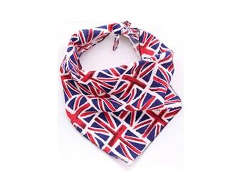 Union Jack Dog Tie on Bandana