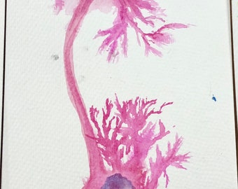 Unipolar neuron watercolor painting