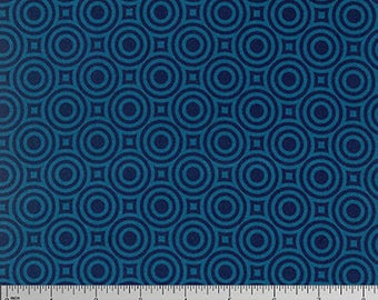 Heather Bailey Fabric, True Colors, Zen Bot in Cobalt Blue, cotton quilting fabric -  SALE