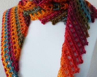 Crochet Scarf Pattern: Hitch a Ride Scarf, PDF download
