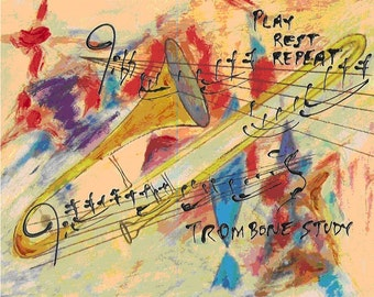 Trombone Study - Print