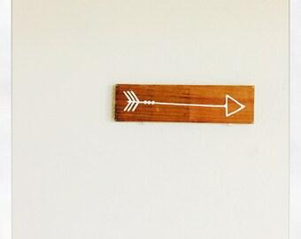 Reclaimed Wood Arrow Sign