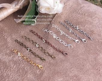 Bracelet ring EXTENDERS to turn slave bracelets into barefoot sandals foot jewelry, Bracelet extension, chain extender, custom lengths too