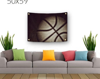 Basketball Tapestry-Lightweight Tapestry-Basketball Wall Decor-Fabric Wall Hanging-Sports Wall Decor-Fine Art Tapestry-Outdoor Tapestry