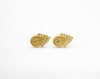 Earrings, Gold Earrings, Boho Earrings, Fine Earrings, Fine Jewelry, Bohemian Earrings, Yellow Gold Earrings, Festival Jewelry, Drop Earring