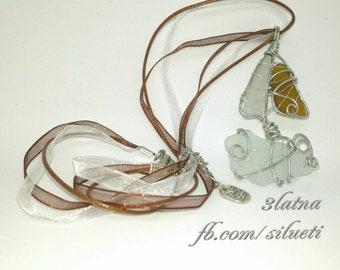 Pendentif de verre de mer «Bateau»