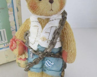 "Vintage Cherished Teddies resin  ""Jacob Bearly "" figurine 1994 Enesco 5H6/795"