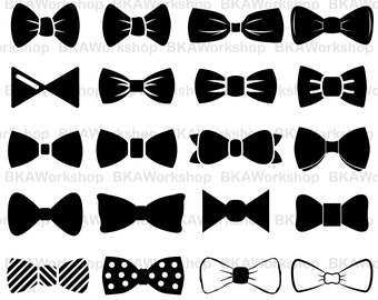 Bow tie svg - Bow tie vector - Bow tie silhouette - Bow tie digital clipart for Design or more, files download svg, png, dxf