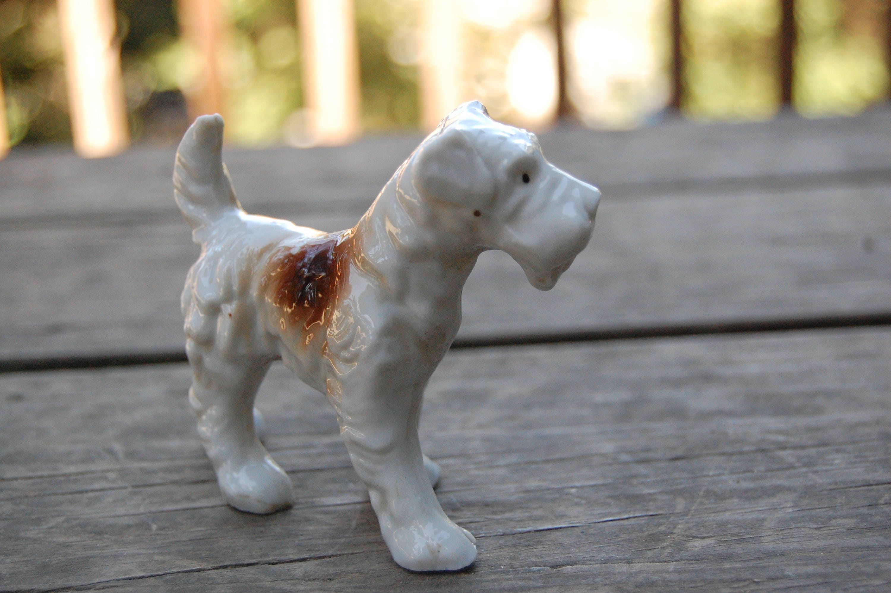Vintage Japan Wire Haired Fox Terrier Wire Fox Terrier Dog