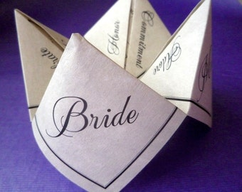 Fortune Teller Cootie Catcher Favor (PDF - PreDesigned PRINTABLE)