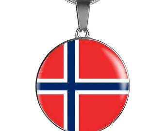 Norwegian Pride - Luxury Necklace - Jewelry Gift For Her