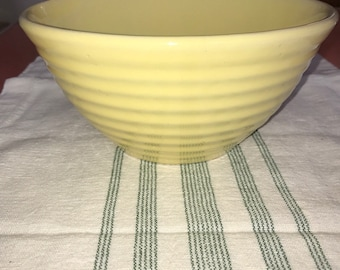 Vintage Bauer Ringware Yellow #18 Nesting Mixing Serving Bowl-EXC!
