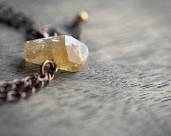 Citrine Bracelet Copper Chain Modern jewelry Boho Bohemian yellow gemstone jewelry