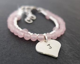 Christening Bracelet, Christening Gift, Personalised Childs Bracelet with Initials, Baptism Bracelet, Childrens Jewellery