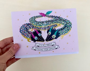 Dragons in love, Valentine's card, Love Card