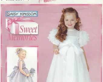 Daisy Kingdom Dress Sewing Pattern ~ Girls Party Communion Flower Girl Wedding Dresses 4 Sizes OOP 5651