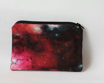 Galaxy Pouch Nebula Clutch Outer Space Coin Purse Travel Makeup Bag Universe Wallet Stars Astronomy Gift for Her Birthday Gifts for Women