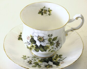 Two cup and saucers Paragon Bone China