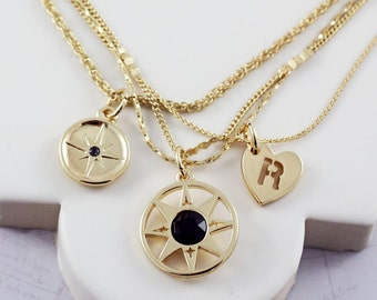 Compass Necklace   Multistrand Necklace   Positive Vibes   Compass Necklace   North Star Necklace   Friendship Necklace   Wish Necklace  G