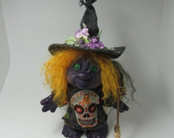 Newer Dam Playmate Troll Doll Botanist Witch  OOAK