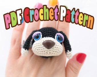 PDF Amigurumi / Crochet Pattern Sleepy Eye Dog Ring CP-14-3235